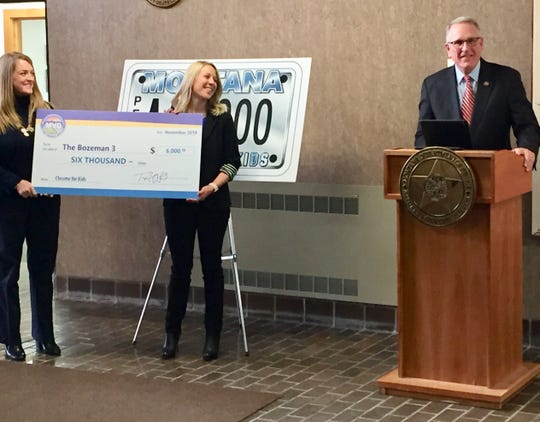 Attorney General Tim Fox discusses the $6,000 grants given Monday to four Montana nonprofits.