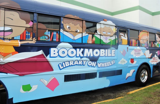 The newest version of the bookmobile was announced at a commemoration ceremony Tuesday at the Nieves M. Flores Memorial Library inHagåtña.