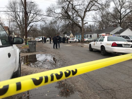 The scene of a fatal shooting at 10th and Centennial streets, Nov. 26, 2019.