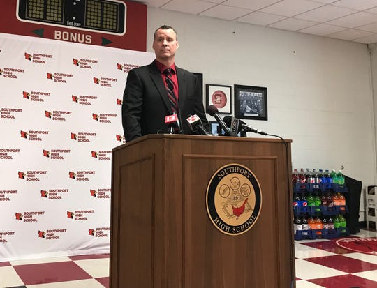 Southport basketball coach Eric Brand speaks out regarding the IHSAA's tournament ban for the Cardinals.