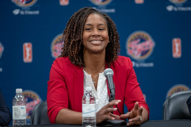 Former Indiana Fever star Tamika Catchings is now the team's vice president of basketball operations and general manager.