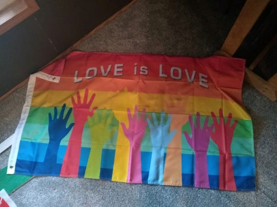 "A ""LOVE is LOVE"" flag is planned to be placed on a float in Christmas parades in Troy and Union City."