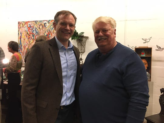 Knoxville City Councilman Marshall Stair with James White's Fort executive director Sam Maynard. Nov. 22, 2019.