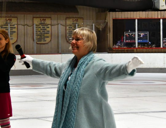 Janet Lynn has been teaching skaters at the Ice Chalet for the past few years, since moving back to Tennessee.