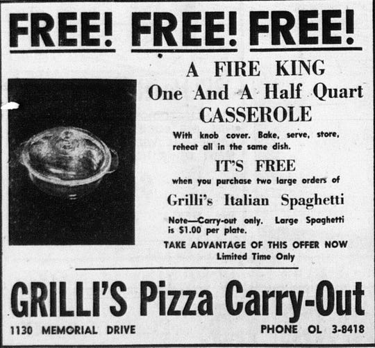 This ad ran in the October 18, 1961 Lancaster Eagle-Gazette