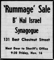 This notice is from the November 15, 1962 Lancaster Eagle Gazette.