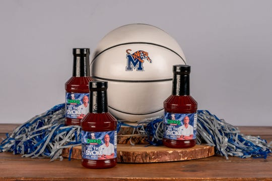 """Corky's Ribs & BBQ and University of Memphis basketball coach Penny Hardaway have partnered to make a new """"All in the Smoke"""" barbecue sauce."""