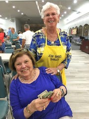 JCMI big winner was Marilyn Flynn of Bedford, NH; here with committee member Shirley Posner.