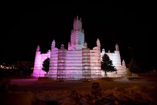 The elaborate Eagle River ice castle is a tradition to see at least once.