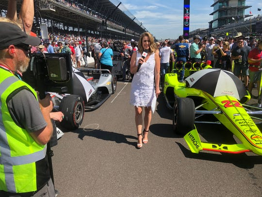 Nicole Briscoe, who worked in local television early in her career, was on the grid for the Indianapolis 500 in 2018 as host of ABC's final telecast of the race.