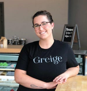 Jessica Reinhardtsen's Greige Patisserie shifts from morning pastries to dessert and wine later and into the evening.