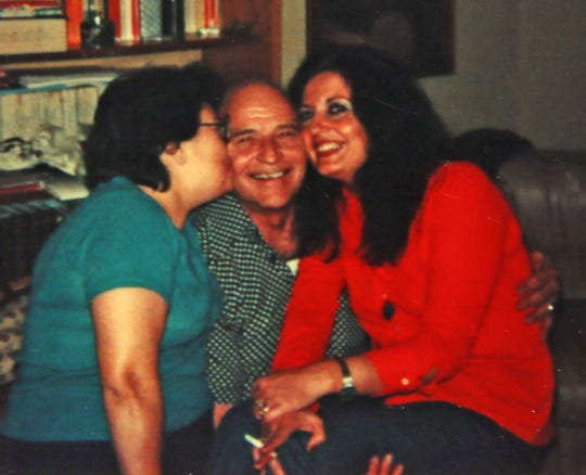 Conchita Commerata, left, Donald Gall and Alba Commerata in a photo from 1979 when Gall returned to Italy where he had befriended the girls' family during World War II.