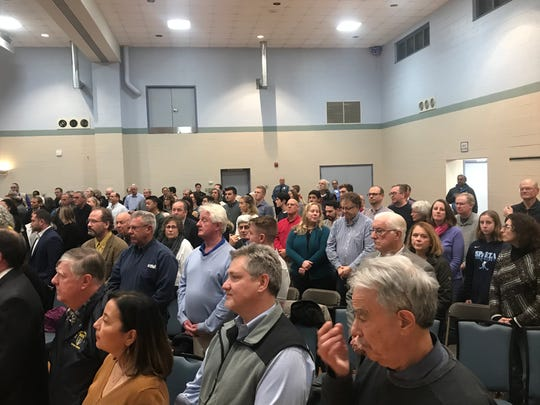 About 300 people attended a town hall hosted by Rep. Mikie Sherrill (D-NJ 11) in Hanover. Nov. 25, 2019.