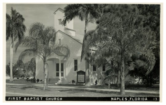 The First Baptist Church of Naples is pictured in the 1960s.