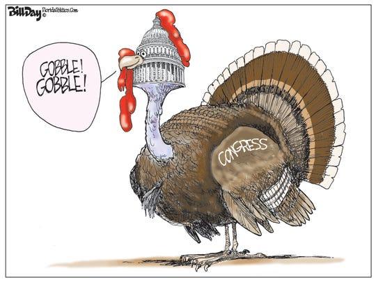 Congress gobbles.