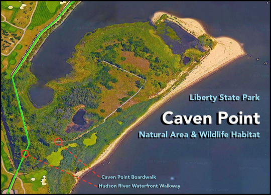 The Caven Point peninsula of Liberty State Park where the exclusive Liberty National Golf Club wants to build three holes.