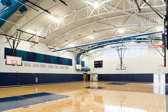 This rendering shows a possible vision for an updated gymnasium at Faust School in East Rutherford.