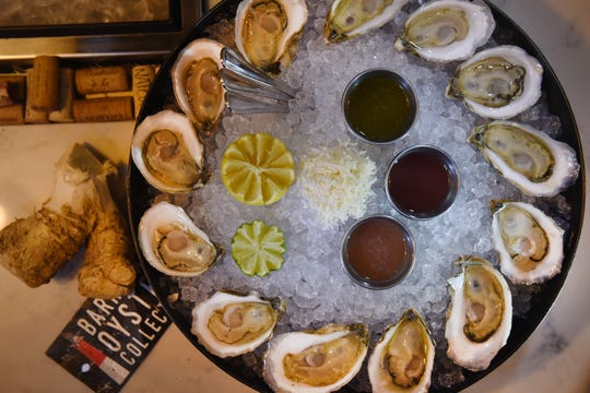 Photo of Omakase Oysters, photographed at Stern & Bow in Closter on 11/26/19.