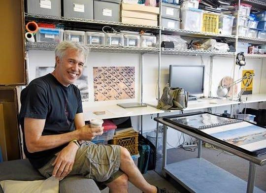 Buehler at his photo studio in Brooklyn.