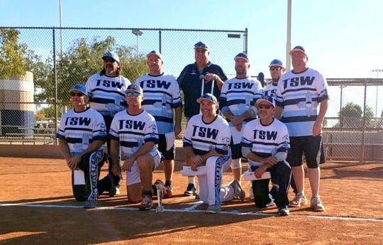 The Southwest Woodies of New Mexico captured the World Championship of senior softball in Phoenix, AZ back on Nov. 15-17. Kevin Ferraro, a manager at Peppers Supermarket, and Byron Hollister, an employee for Luna County, participated in the three-day championship trail that included 20 teams from all over the country. The Woodies went 7-0 en route to the world title and were led by Ferraro, 60, and Hollister, 56. Ferraro is a gold medal winner in Senior Olympics and Hollister was inducted into the USSSA Softball Hall of Fame in 2016.