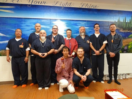 Lopon Barbara Du Bois visited Otero County Prison Facility and was able to visit with nine male inmates who practice Buddhism.