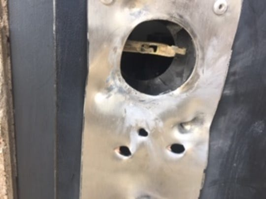 Locks on the restroom facilities and storeroom at the Chihuahuan Desert Nature Park were shot off and the park was vandalized on Saturday, Nov. 23, 2019, park officials said.