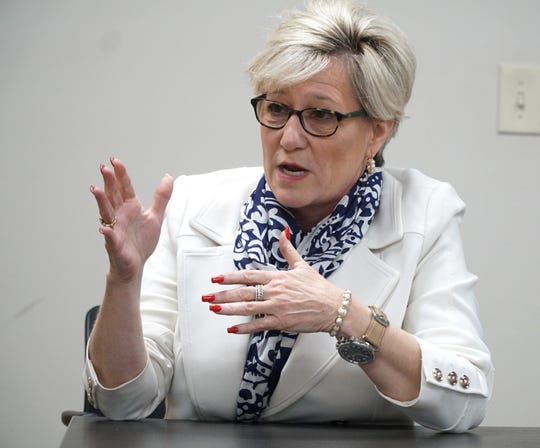 Livonia Mayor-elect Maureen Brosnan speaks about her plans for leading the city once she's sworn in - during a Nov. 26, 2019 interview at the Livonia Chamber of Commerce.