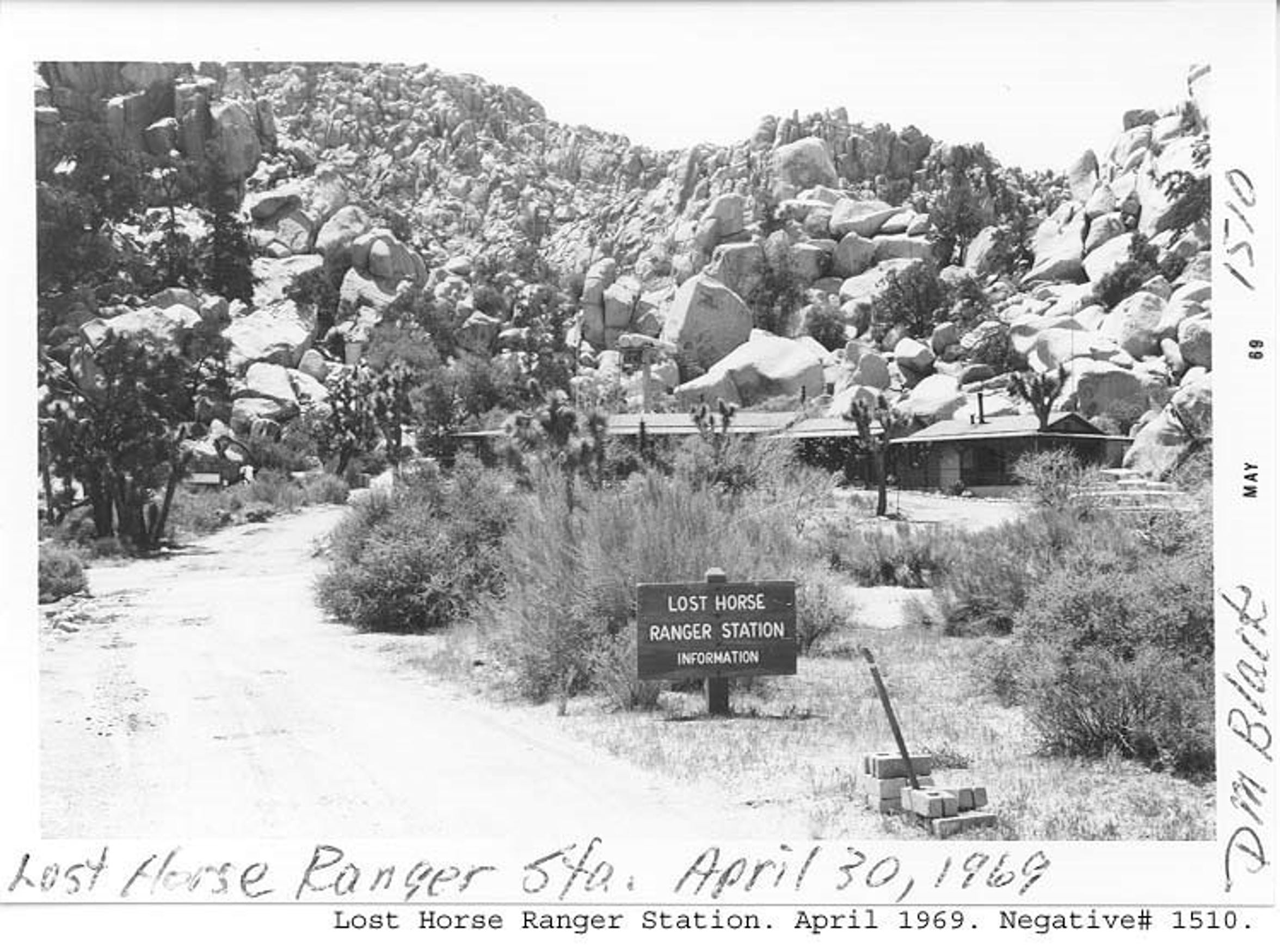 Joshua Tree National Park's Lost Horse ranger station shortly after it was sold by the Stokes family to the federal government.