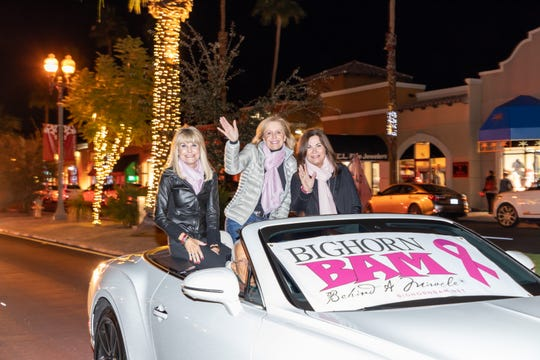 Miracle on El Paseo event co-chair Debi Aarthun joined Bighorn BAM founder Selby Dunham and event co-chair Cathy Johnson in the parade.