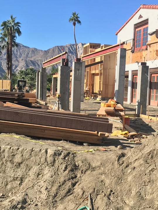 Construction on the south side of the clubhouse at Tradition Golf Club in La Quinta is designed to expanded outdoor dining area while expanding the clubhouse's kitchen by 500 square feet