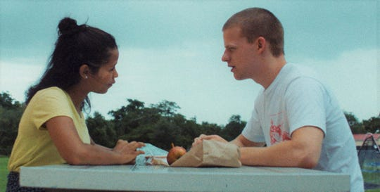"Taylor Russell and Lucas Hedges star in ""Waves."""