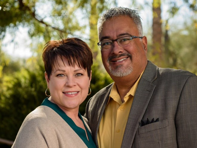 Rhonda Cagle and her husband, Lorenzo Sierra.