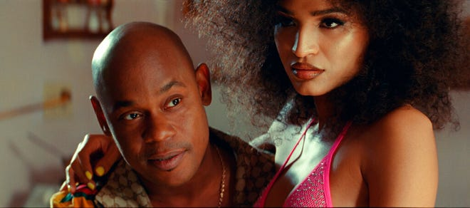 """Bokeem Woodbine, left, and Indya Moore star in """"Queen & Slim."""" The movie is playing at Regal West Manchester and Queensgate Movies 13."""
