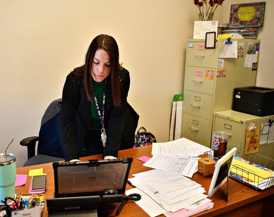 Tanya Stauffer, director of York County's Office of Children, Youth and Families, during an interview at her office in York City, Tuesday, Nov. 26, 2019. Dawn J. Sagert photo