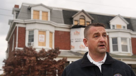 York Area United Fire and Rescue Chief Matt Arnold talks about the fire that started in a bedroom on the second floor of the row home in 500 block of South Albemarle Street in Spring Garden Township on Nov. 5. He explains that closed doors keep fire from spreading and can create survivable places.