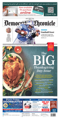 The Thanksgiving Day 2019 Democrat and Chronicle is the biggest newspaper of the year.