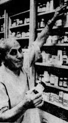 """Hyman Jay """"Hy"""" Mandell, past president of the New York State Pharmaceutical Society, says in 1974, after 50 years in business, that modern drugs are lengthening lives."""