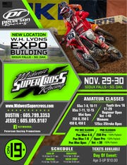 Midwest Supercross Racing will host two days of competition at the Expo Building in Sioux Falls Nov. 29 and Nov. 30.