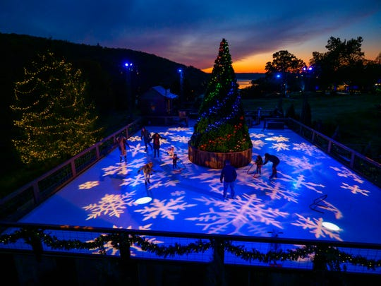 You'll find this 20 foot tree in the center of a synthetic ice rink at Big Cedar Lodge. The resort will have 1 million lights this year.