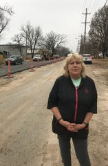 Janet Brewer, owner of The Pet Beautician, 2359 Cherry St., says road construction is hurting her 30-year business.