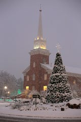 Snow blankets St. George on Saturday near the St. George Tabernacle of The Church of Jesus Christ of Latter-day Saints in this Spectrum file photo.