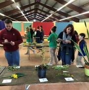 Leon County 4-H members competing in the Horticulture ID Contest at the North Florida Fair.