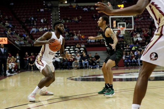 Florida State Seminoles forward Patrick Williams (4) drives during a game between FSU and Chicago State at the Donald L. Tucker Civic Center Monday, Nov. 25, 2019.