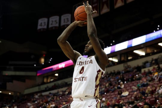 Florida State Seminoles forward Patrick Williams (4) shoots a jumper during a game between FSU and Chicago State at the Donald L. Tucker Civic Center Monday, Nov. 25, 2019.