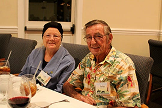 Dudley and Judy Pullen at the Friends of the Library's Annual Dinner at the Pelican Yacht Club.