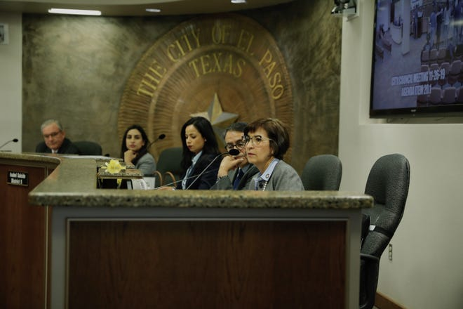 District 8 city Rep. Cissy Lizarraga on Tuesday, Nov. 26, 2019, supported District 7 city Rep. Henry Rivera's effort to postpone a vote that could have created a bond advisory committee for the $413 million Public Safety Bond.