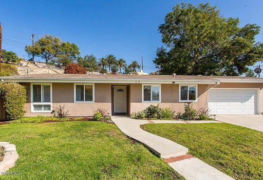 This home on Linden Circle in Thousand Oaks is listed for $585,000. The median home price in Ventura County is down to $580,000.