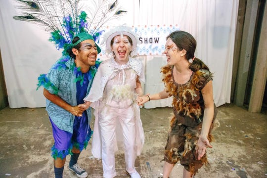 "Luis Ramirez, from left, McColley Wilk and Cosette Ruesga will perform in the original play for children ""Ruby & Scarlett at the Circus Carnivale"" Nov. 30 at the ARTSpace Black Box Theatre at Simi Elementary School."