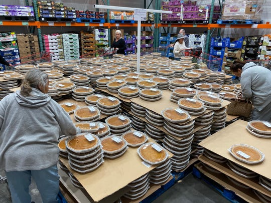 At under $8 and weighing in at more than 3.6 pounds, it's no wonder why Visalia's Costco will have sold thousands of pies before the turkey hits the table this year.