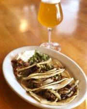 Tacos and a beer at The Whiskey Kitchen in Valley Cottage.